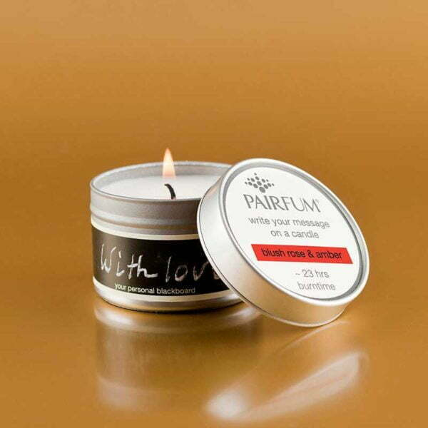 Pairfum Write Your Message On A Candle Blush Rose Amber