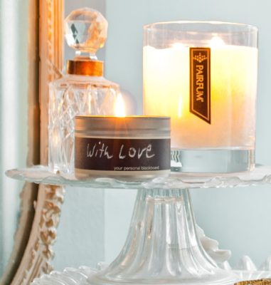 Pairfum message candle soy wax