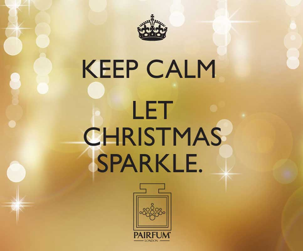 PAIRFUM London Keep Calm And Let Christmas Sparkle luxury scented candles natural reed diffuser