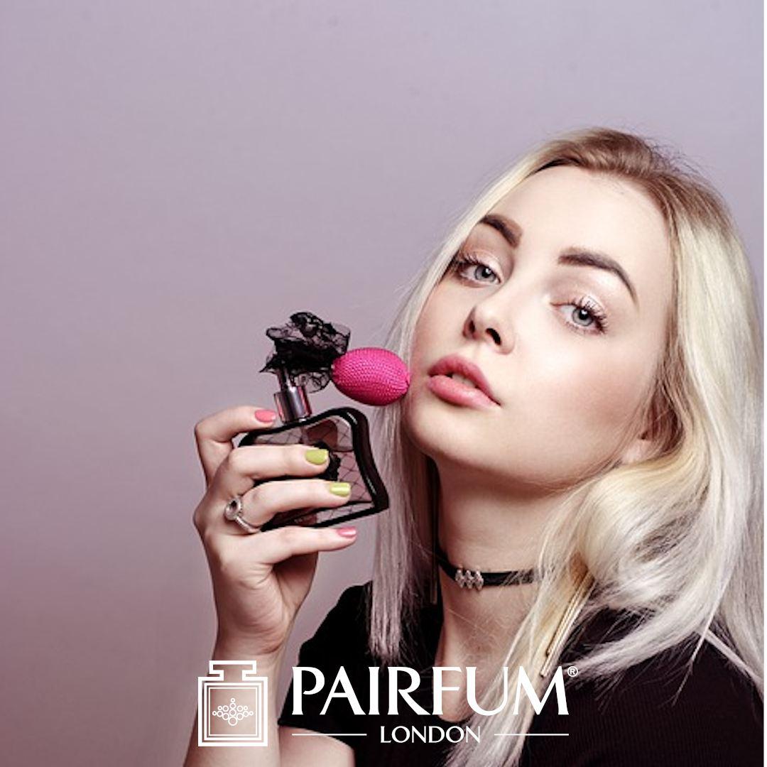 Blonde Model Wearing Too Much Perfume