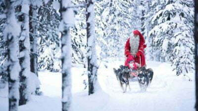 Merry Christmas Santa Claus Is Coming Sleigh