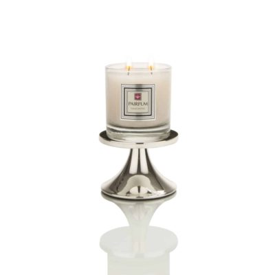 Pairfum Fragranced Glass Snow Crystal Candle Holder Classic Silver