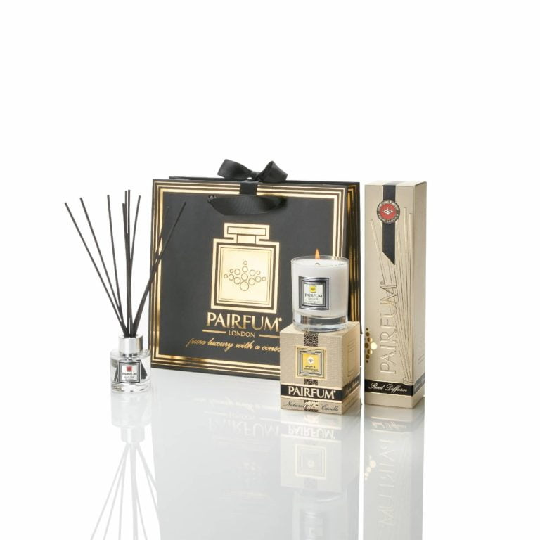 Pairfum Luxury Gift Bag Home Fragrance Scented Candle Reed Diffuser