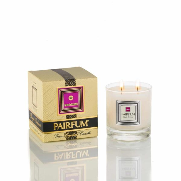 Pairfum Large Snow Crystal Candle Signature Black Orchid