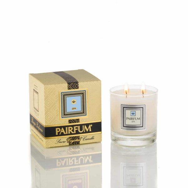 Pairfum Large Snow Crystal Candle Signature Spa