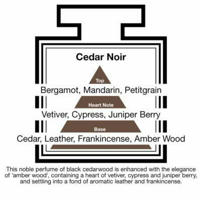 Fragrance Description Cedar Noir Vetiver Juniper Leather Frankincense