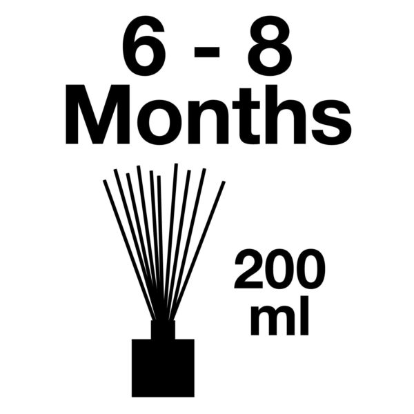 Pairfum Infographic Large Reed Diffuser Volume 200 Ml Longlasting