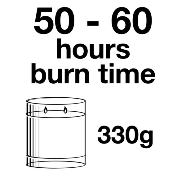 Pairfum Infographic Snow Crystal Candle Large 330 G Burn Time