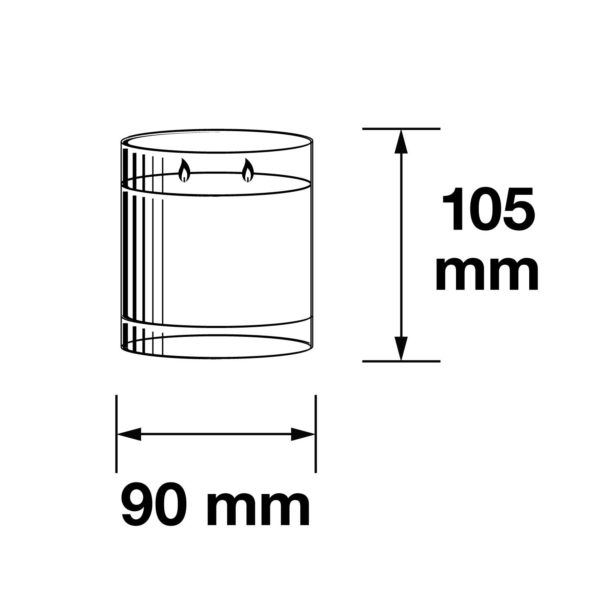 Pairfum Infographic Snow Crystal Candle Large 330 G Size