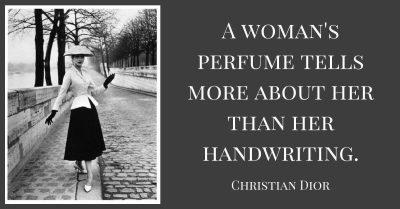 Womans Perfume Tells More Handwriting Christian Dior