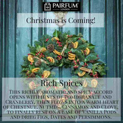 Christmas Coming Pairfum Fragrance Wreath Cinnamon Orange Spruce