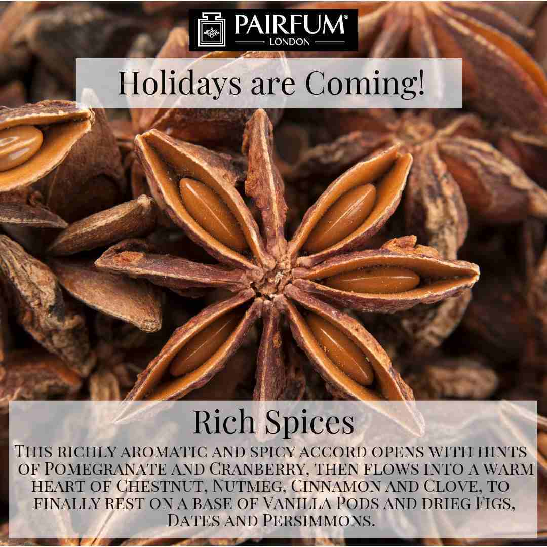 Holidays Coming Pairfum Fragrance Rich Spices Anise Star