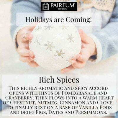Holidays Coming Pairfum Fragrance Rich Spices Bauble Snow