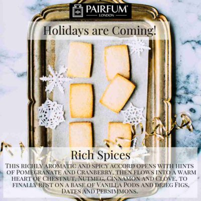 Holidays Coming Pairfum Fragrance Rich Spices Christmas Cookie