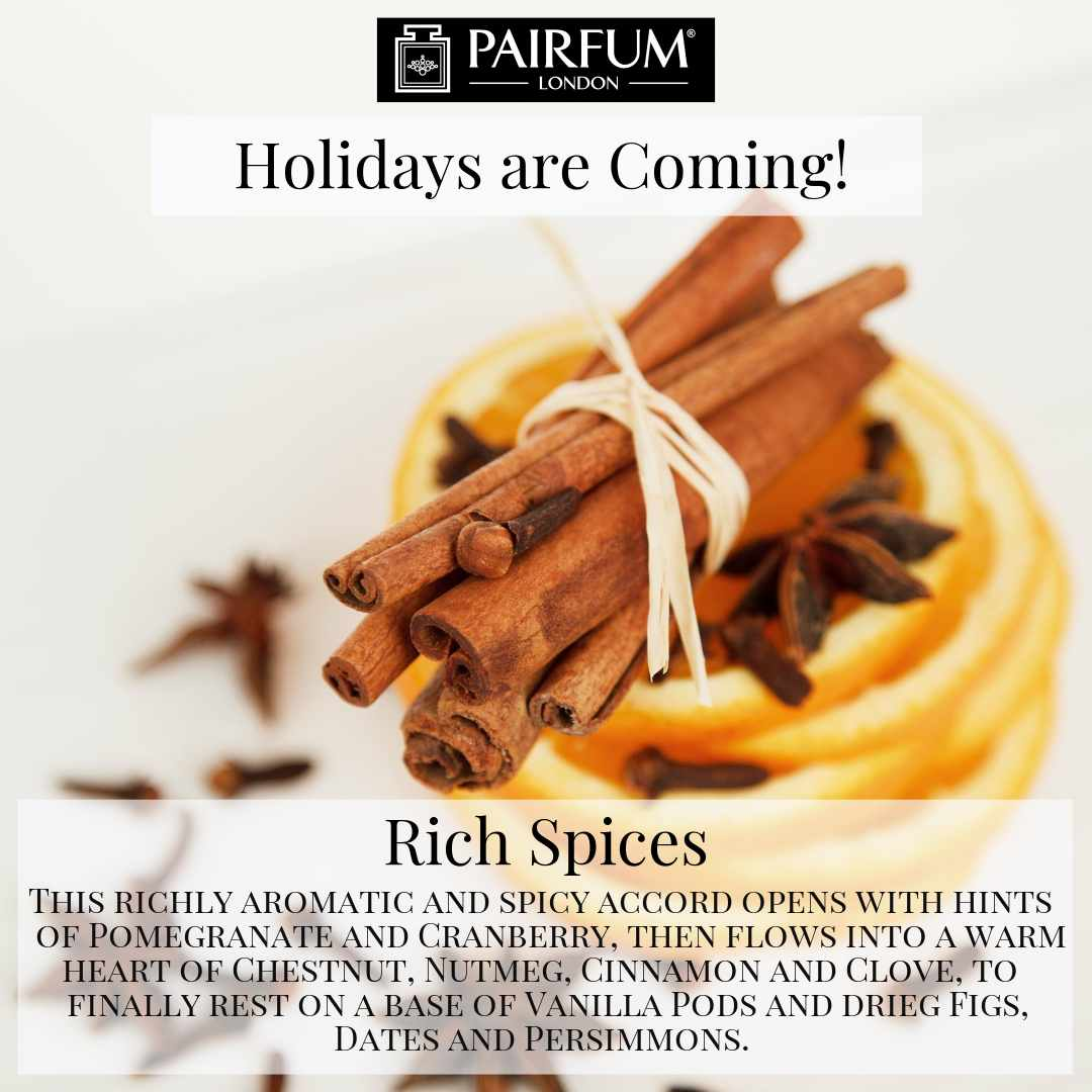 Holidays Coming Pairfum Fragrance Rich Spices Cinnamon Citrus