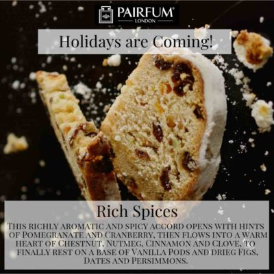 Holidays Coming Pairfum Fragrance Rich Spices Stollen Berry