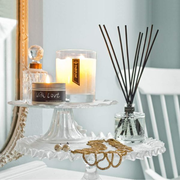Living Room Natural Reed Diffuser Luxury Fragranced Candle
