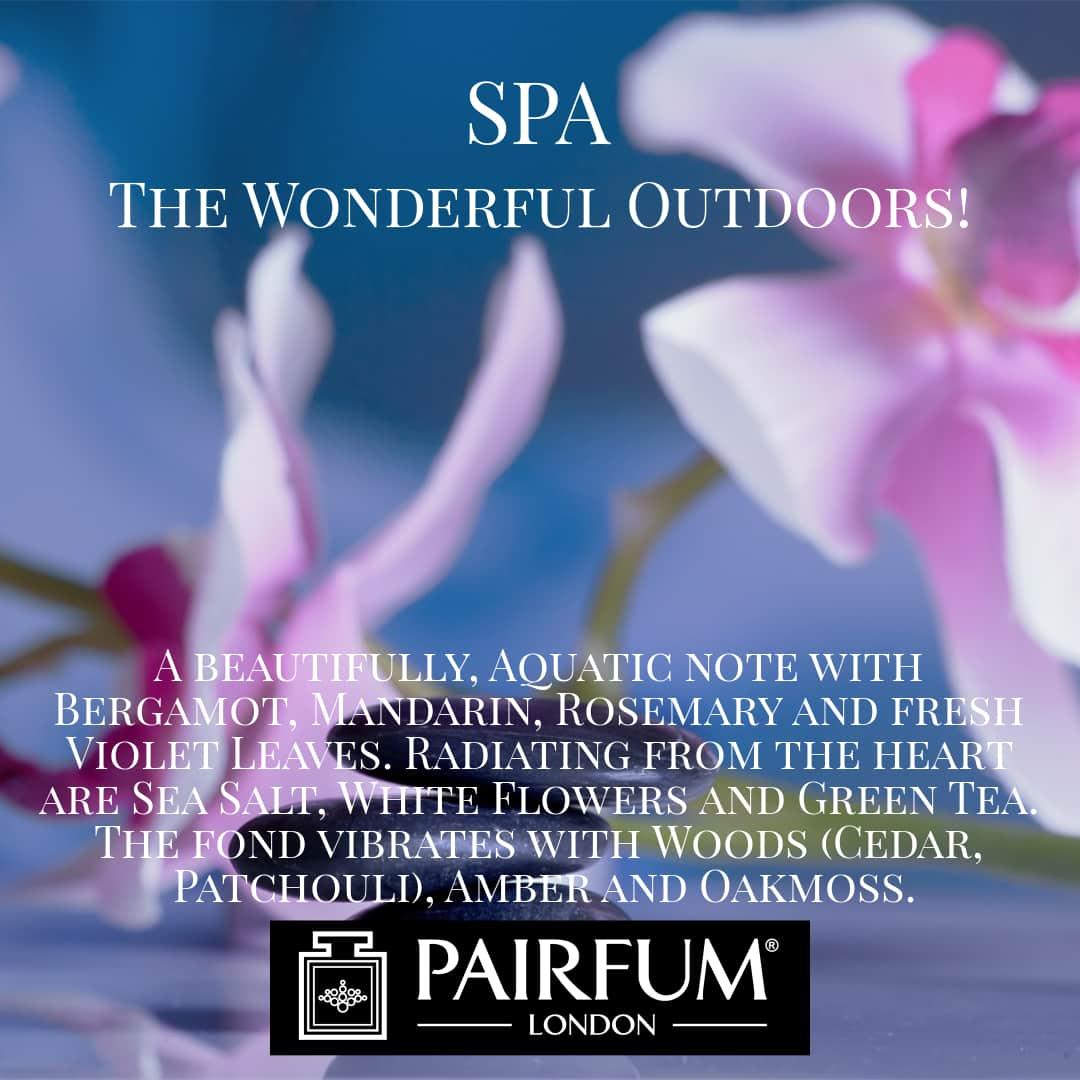 Spa Wonderful Outdoors Pairfum London 2