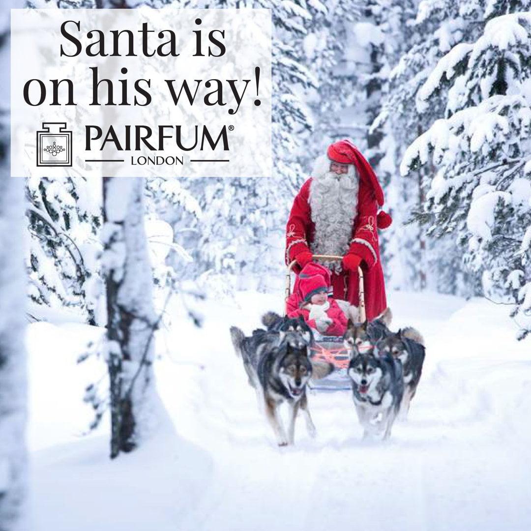 Santa's Sleigh Pairfum London Christmas Santa Coming Snow