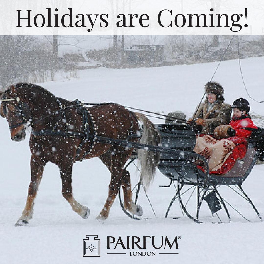 Pairfum London Holidays Coming Snow Santa's Sleigh
