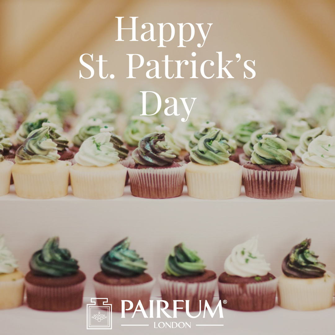 Perfume Green Happy St Patricks Day Cup Cake