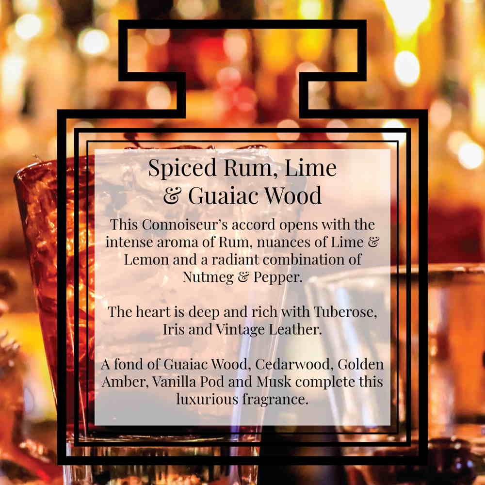 Pairfum Fragrance Spiced Rum Lime Guaiac Wood Description