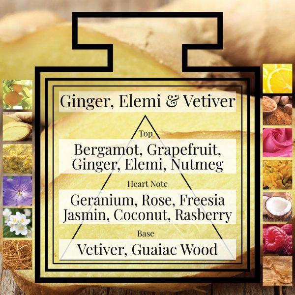 Pairfum Fragrance Ginger Elemi Vetiver Triangle Ingredients