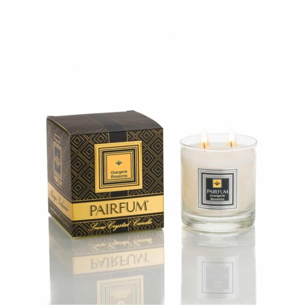 Pairfum Large Snow Crystal Candle Noir Orangerie Blossoms Jpg