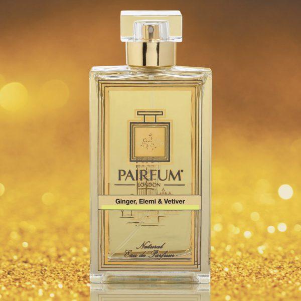 Eau De Parfum Bottle Ginger Elemi Vetiver Gold