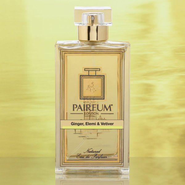 Eau De Parfum Bottle Ginger Elemi Vetiver Gold Foil