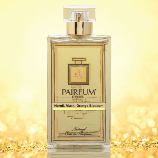 Eau De Parfum Bottle Neroli Musk Orange Blossom Gold