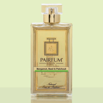 Gold Eau De Parfum Bottle Bergamot Basil Patchouli