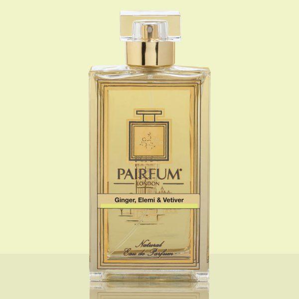 Gold Eau De Parfum Bottle Ginger Elemi Vetiver
