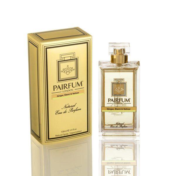 Pairfum Eau De Parfum Gold Bottle Carton Ginger Elemi Vetiver