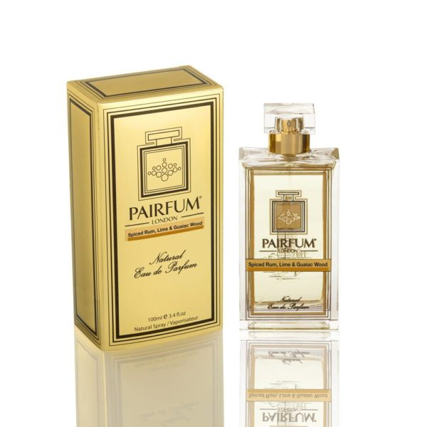 Pairfum Eau De Parfum Gold Bottle Carton Spiced Rum Lime Guaiac Wood