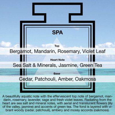 Fragrance Description Spa Violet Green Tea Sea Salt Cedar