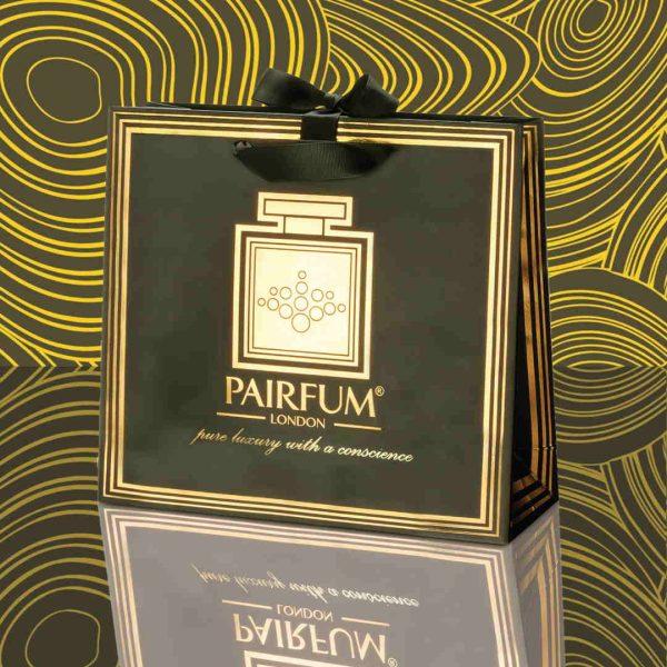 Pairfum Gold Black Luxury Carrier Bag Gift Classic Fluid