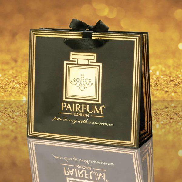 Pairfum Gold Black Luxury Carrier Bag Gift Classic Grain