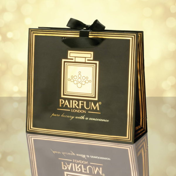 Pairfum Gold Black Luxury Carrier Bag Gift Classic Light