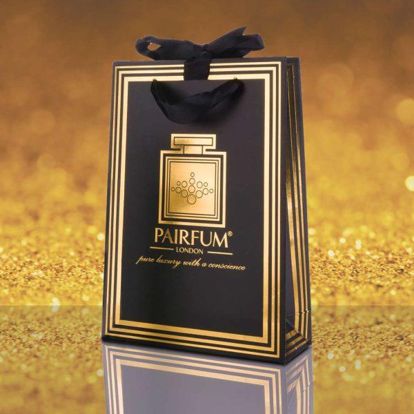 Pairfum Gold Black Luxury Carrier Bag Gift Small Grain