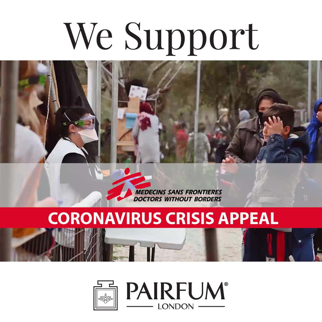 Doctors Without Borders Pairfum London Donates Coronavirus Crisis Appeal
