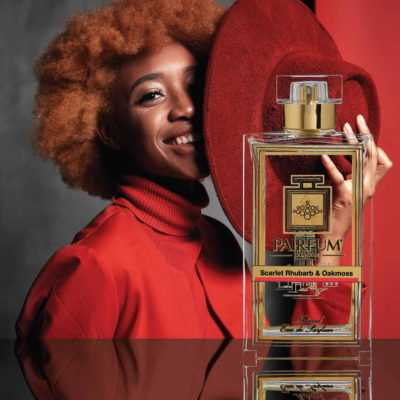 Eau De Parfum Person Reflection Scarlet Rhubarb Oakmoss Hat The Magic Of Perfume