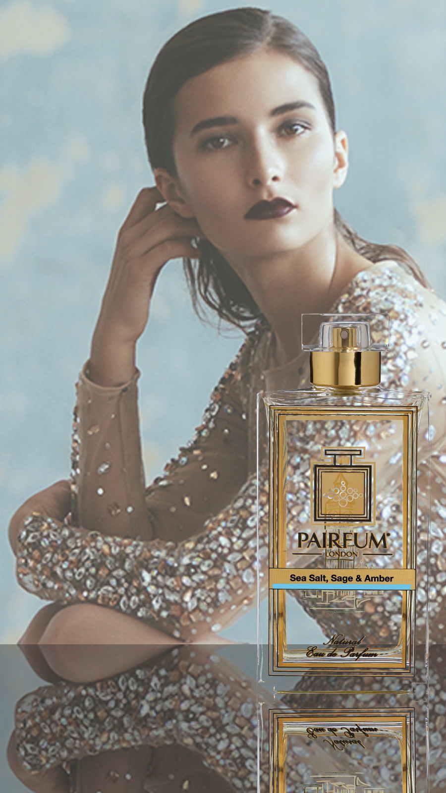 Eau De Parfum Person Reflection Sea Salt Sage Amber Woman 9 16