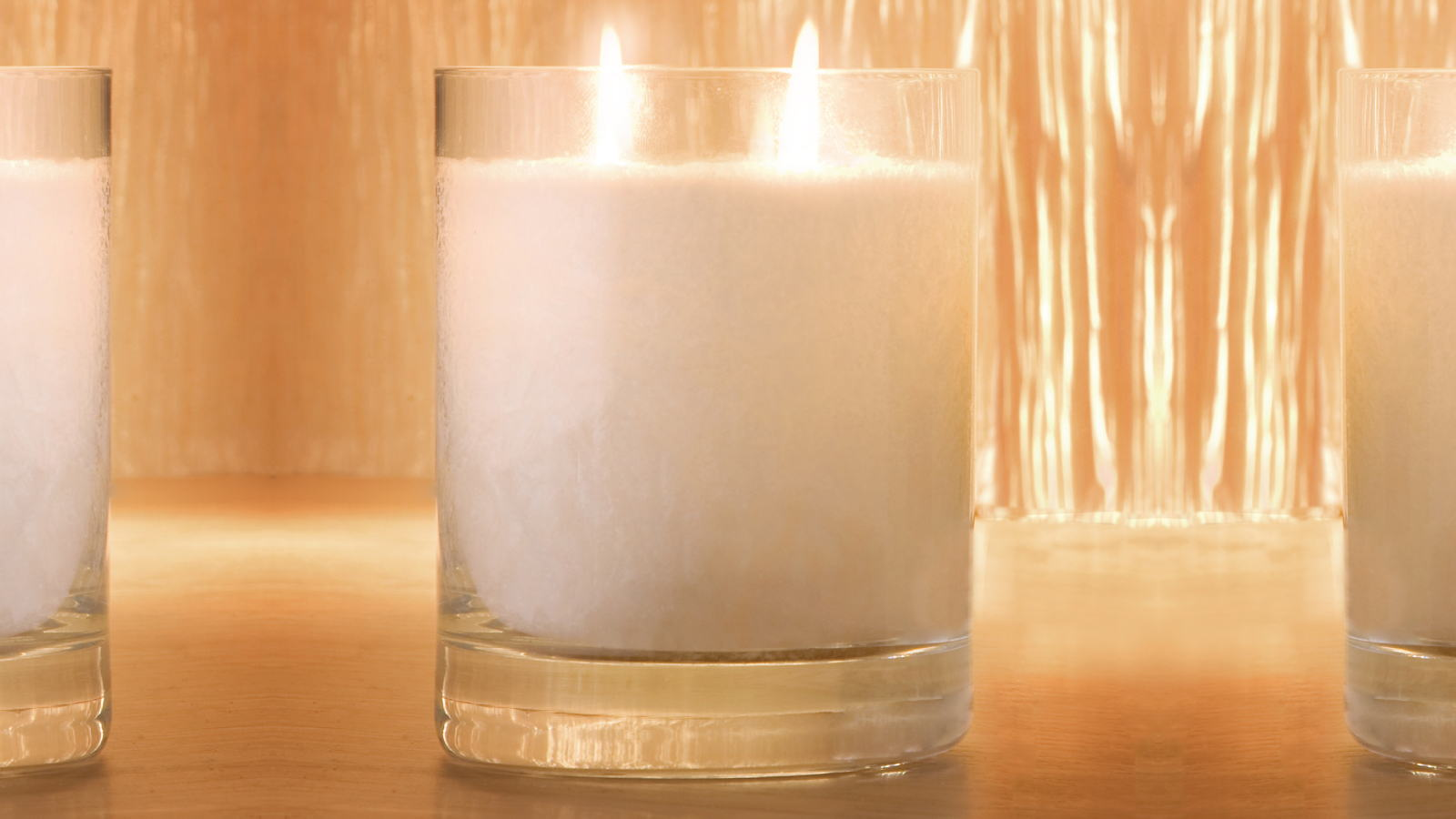 Large Snow Crystal Perfume Candle Twin Wick Glass 16 9