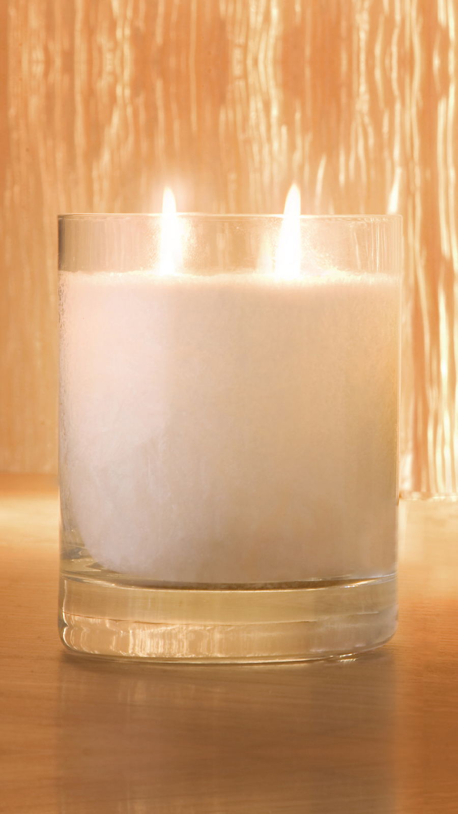 Large Snow Crystal Perfume Candle Twin Wick Glass 9 16