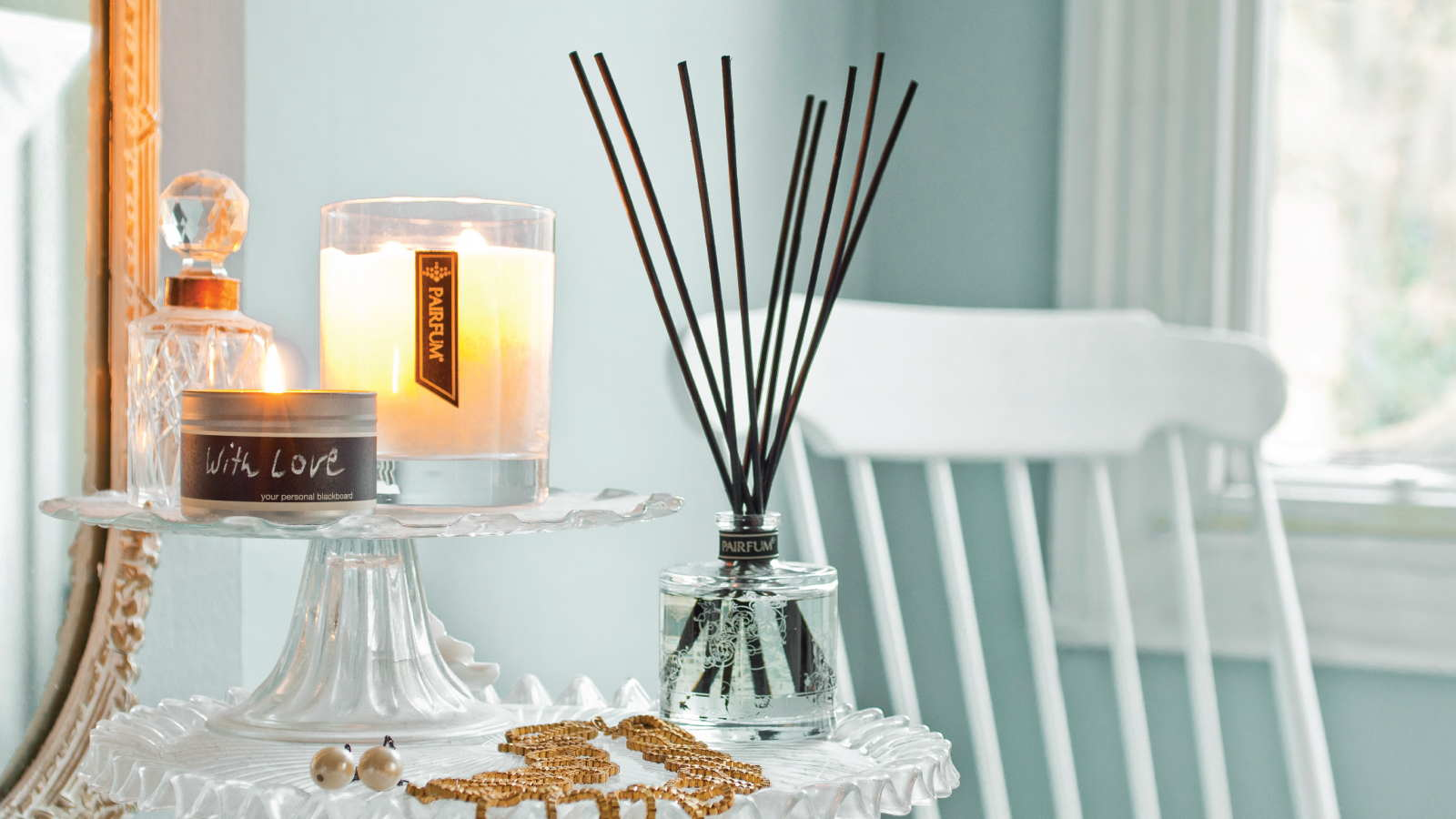 Lifestyle Living Room Natural Reed Diffuser Fragrance Candle 16 9