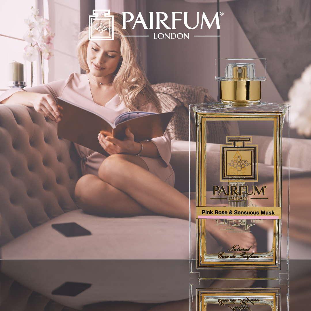 Pairfum Eau De Parfum Person Reading Pink Rose Sensuous Musk Woman 1 1