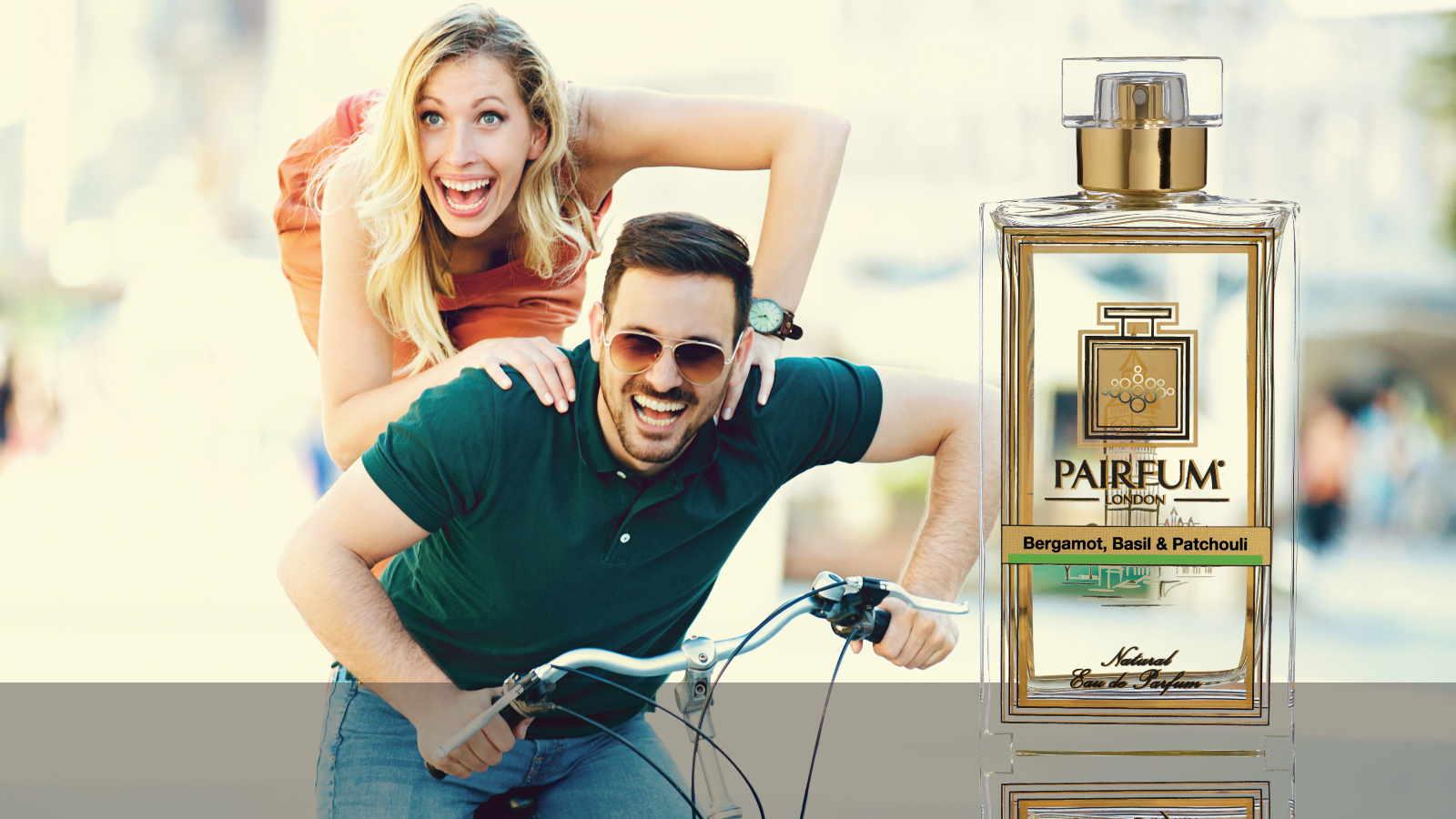 Eau De Parfum Person Reflection Bergamot Basil Patchouli Couple Bike 16 9