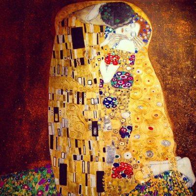 Gustav Klimt The Kiss Painting
