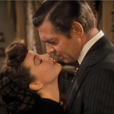 Scarlett And Rhett Almost Kiss In Gone With The Wind